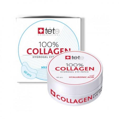 100% Collagen Hydrogel Patch / Гиалуроновые патчи для глаз с гиалуроновой кислотой, 60шт